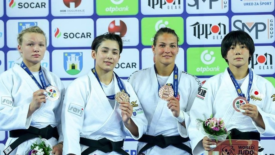 Karakas Hedvig bronzérmes Zágrábban