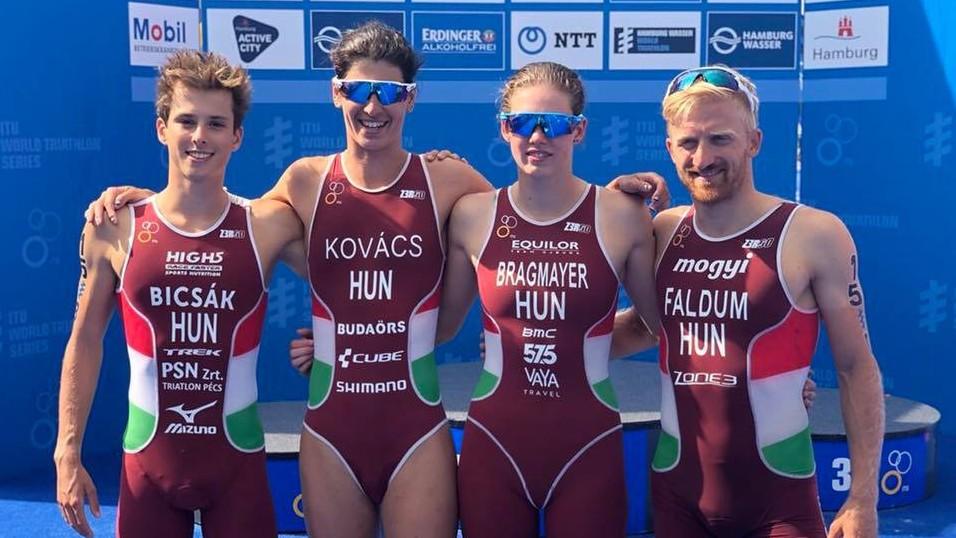 A magyar triatloncsapat 13. lett a vegyesváltó-világbajnokságon