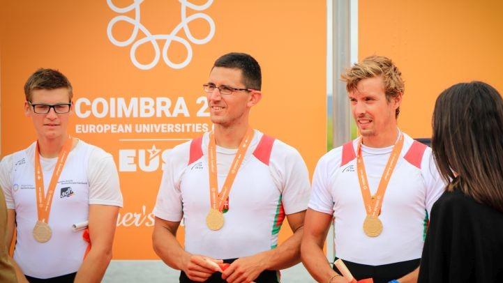 Két arannyal, egy ezüsttel és négy bronzéremmel nyitott a magyar egyetemi evezős csapat Coimbrában