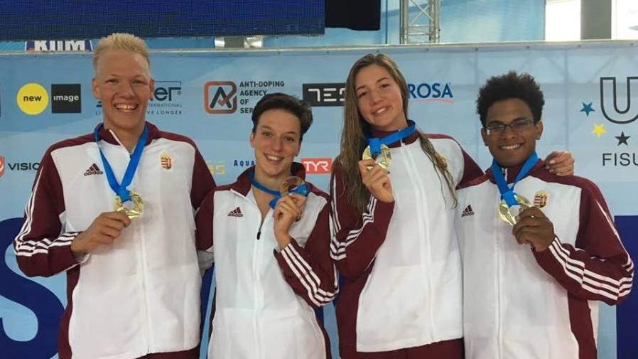 Uszonyos úszó-világbajnokság: Két arany, egy bronz