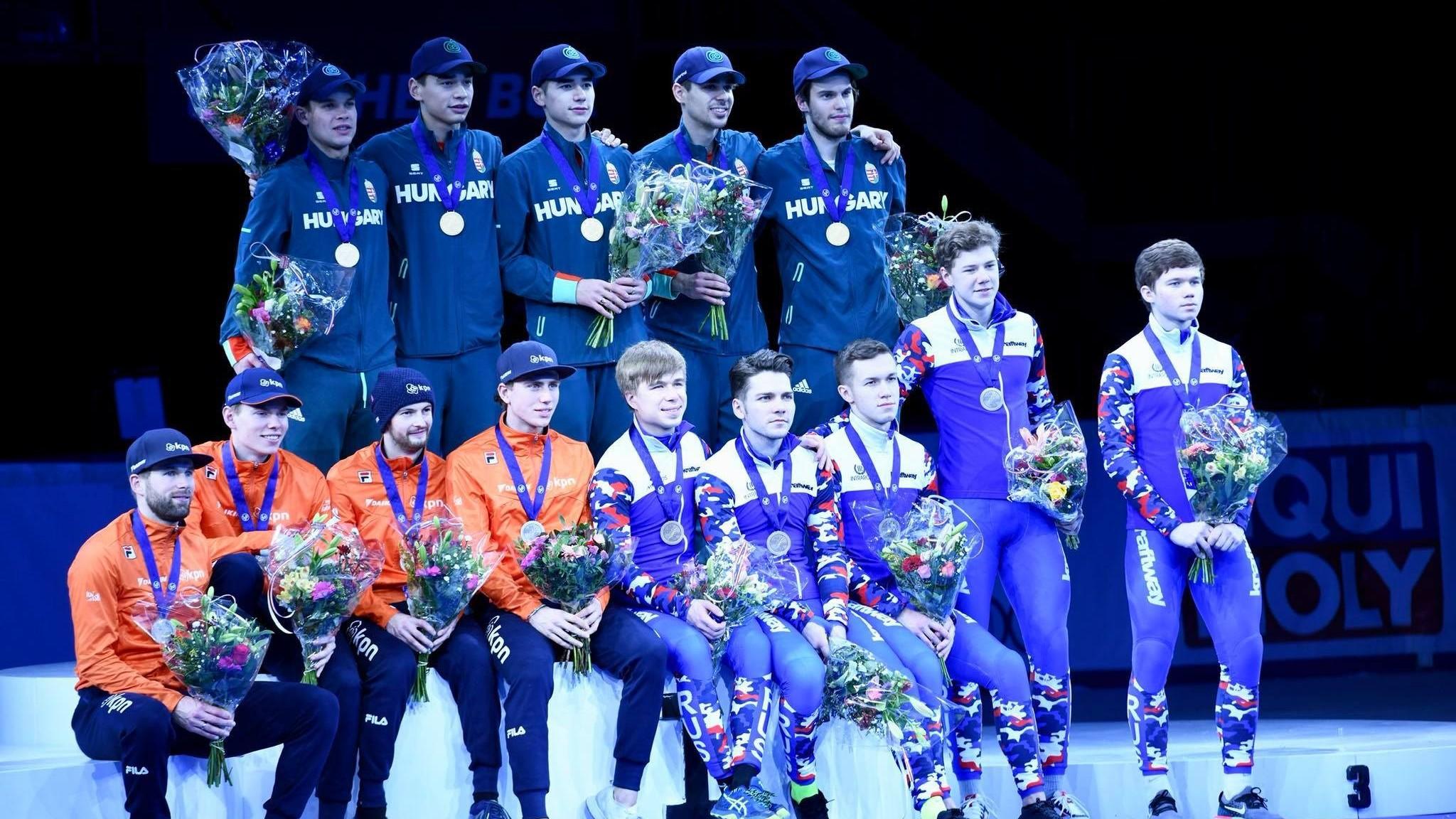 Magyarország végzett az éremtáblázat élén a dordrechti rövidpályás gyorskorcsolya Európa-bajnokságon