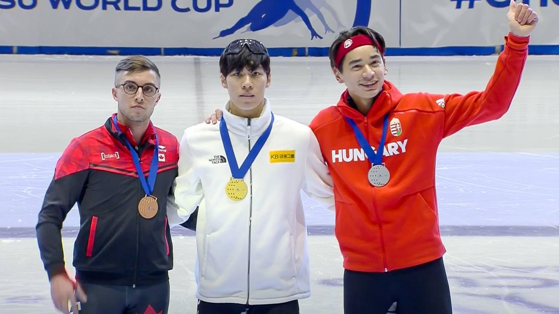 Rövidpályás gyorskorcsolya vk - Liu Shaolin ezüstérmes 500 méteren, a férfi váltó összetett győztes lett