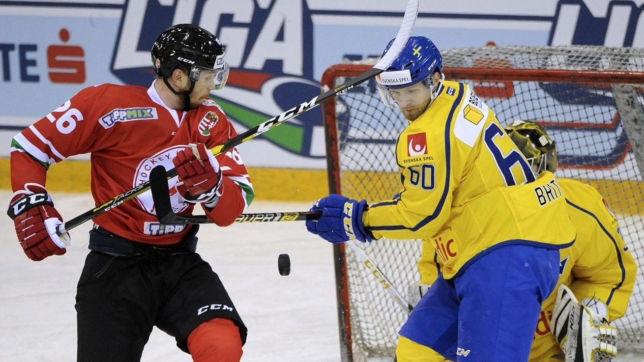 Szoros meccsen kapott ki a svédektől a vb-re készülő jégkorong-válogatott