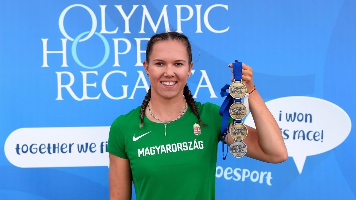 Több mint száz magyar érem a szegedi kajak-kenu Olimpiai Reménységek Versenyén