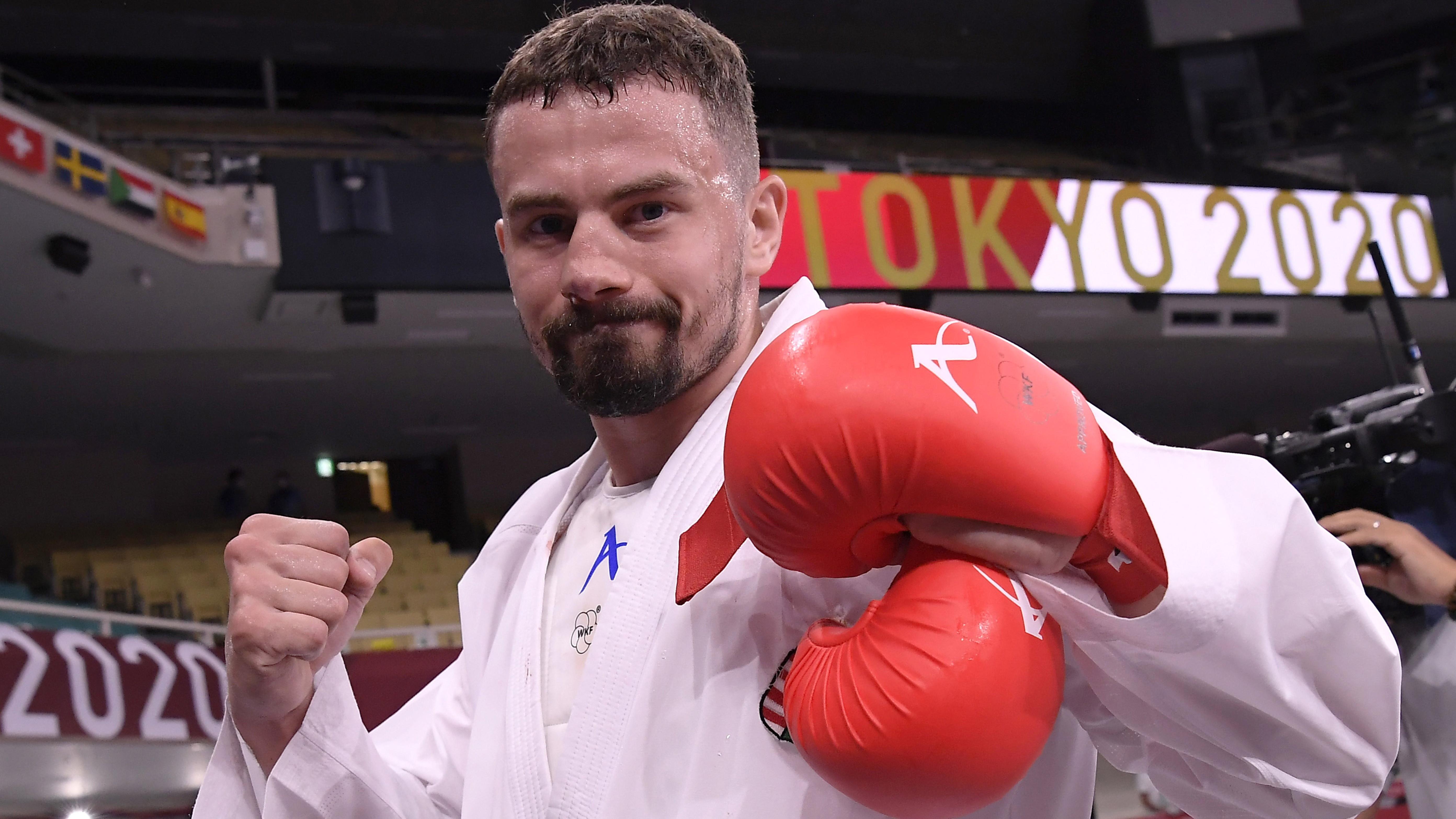 Duplán sporttörténelmi siker Hárspataki Gábor karatés bronzérme