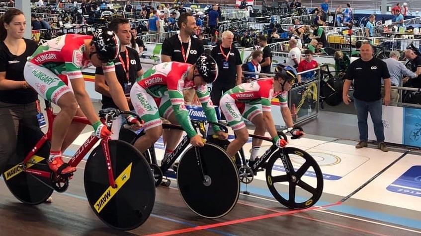 Csapatsprint országos csúcs a junior és U23-as pályakerékpár Eb-n