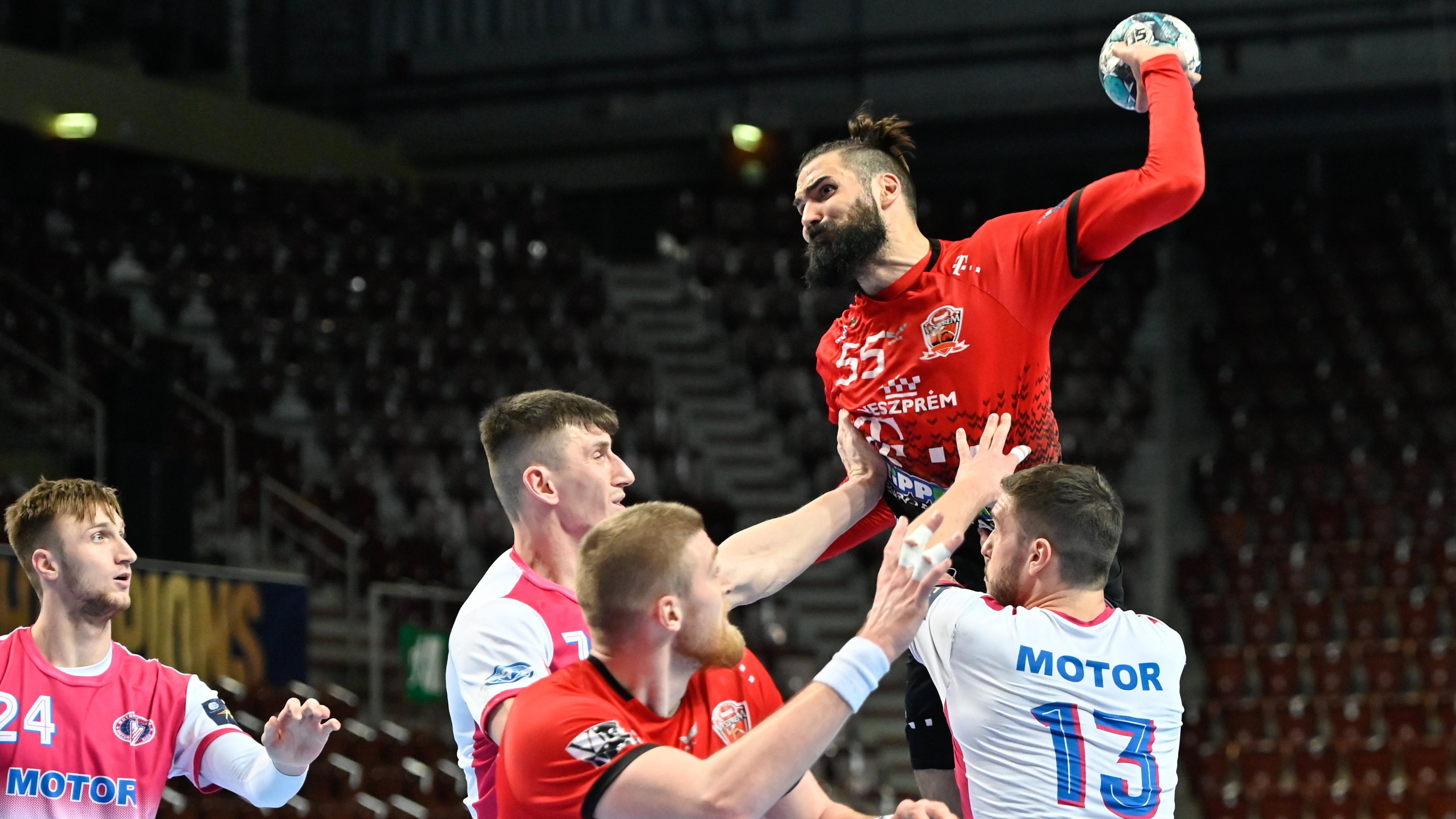 Férfi kézilabda BL - A Veszprém négy góllal legyőzte az ukrán bajnokot