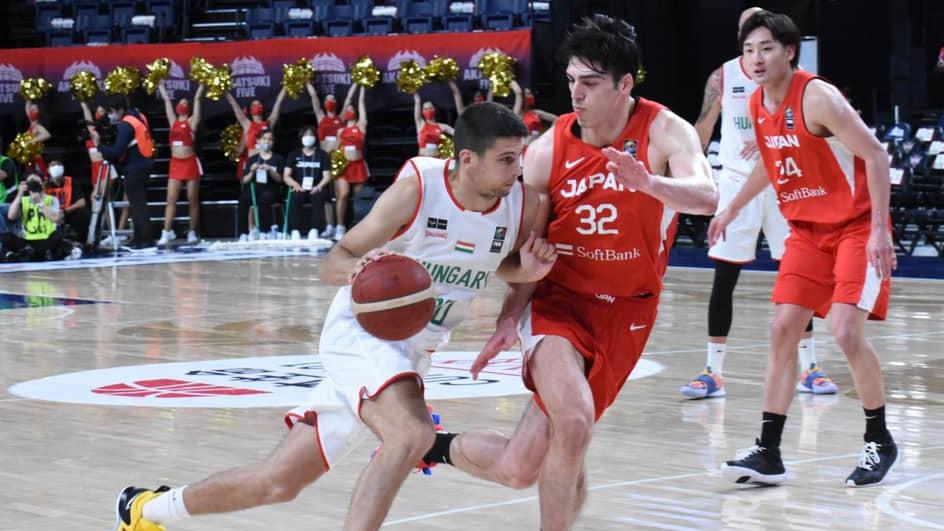 Japán legyőzte a magyar férfi kosárlabda-válogatottat