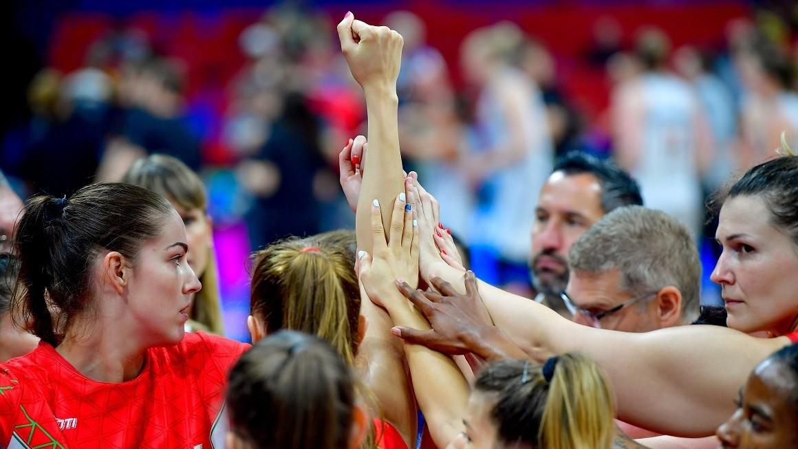 Sorsdöntő meccs előtt a női kosárlabda-válogatott