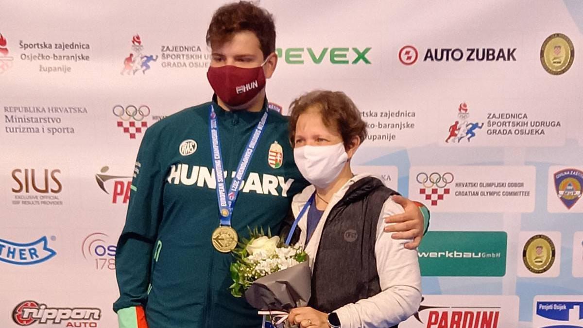 Hammerl Soma aranyérmes a junior fiú puska összetettben