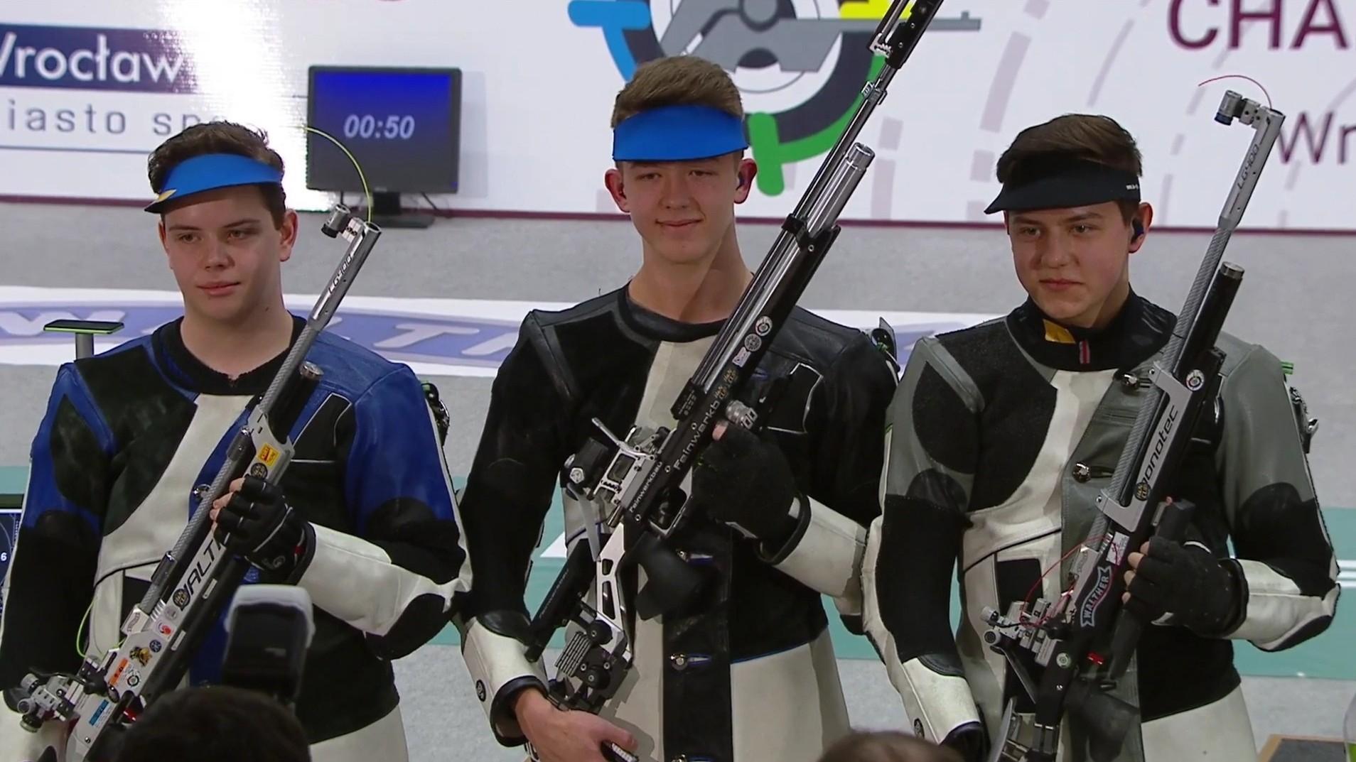 Európa-bajnok a magyar junior fiú légpuska csapat