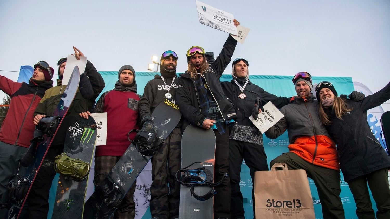 Kis Benedek a freestyle snowboard magyar bajnok 2019-ben