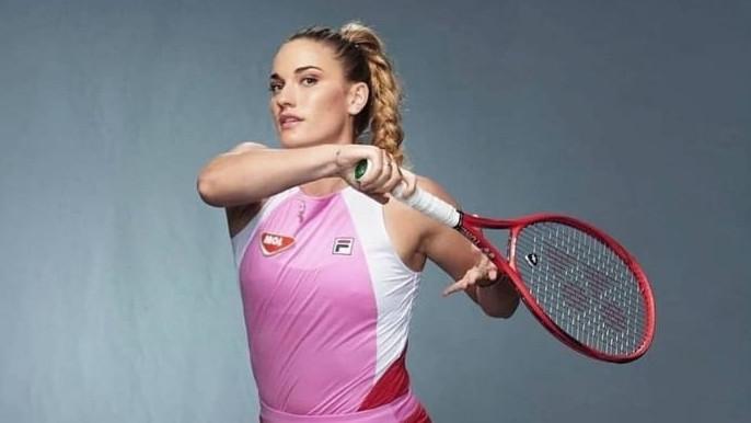 Babos Tímea főtáblás egyesben az Australian Openen