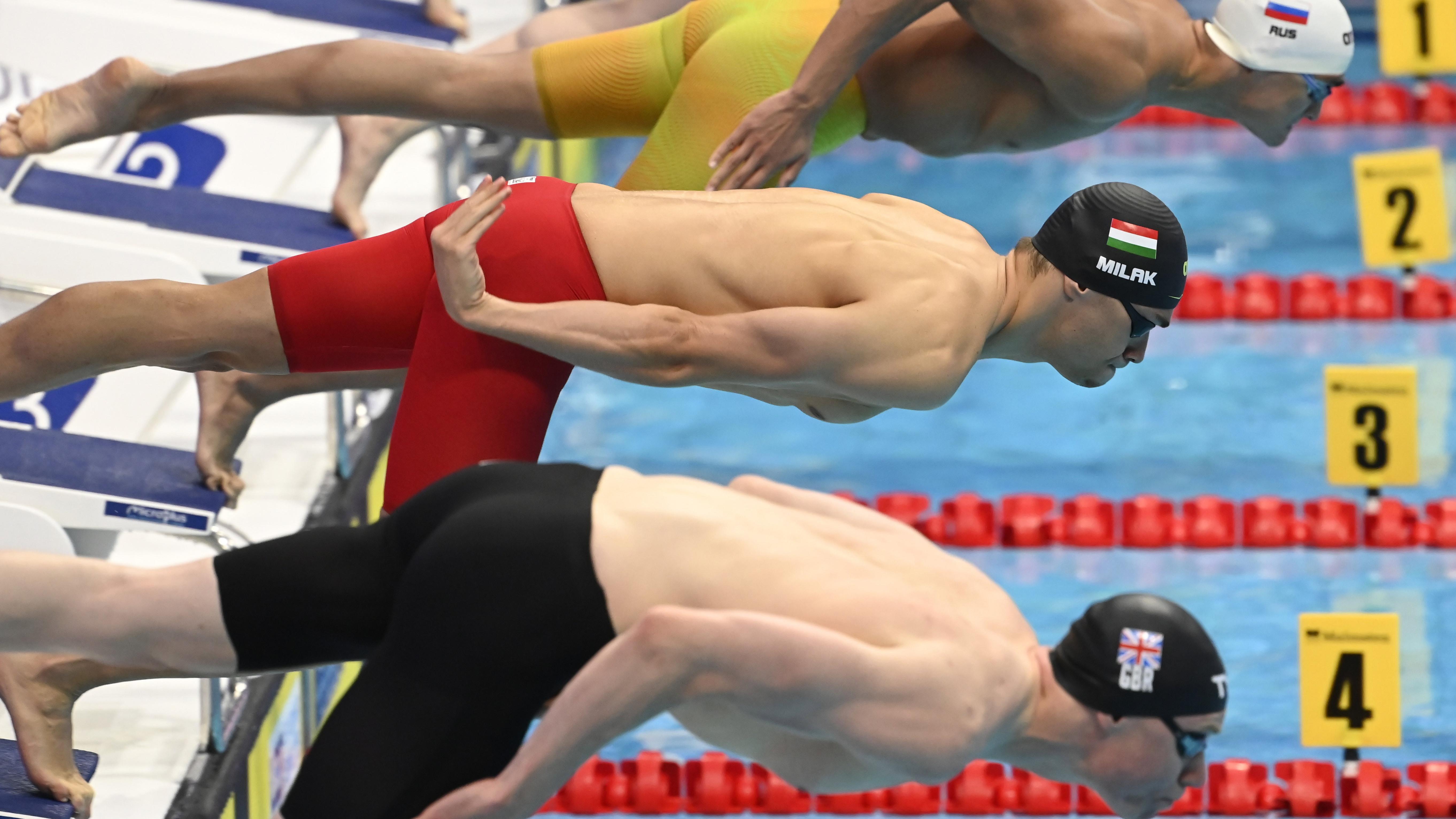 Milák Kristóf a világ második legjobb idejével aranyérmes az Európa-bajnokságon