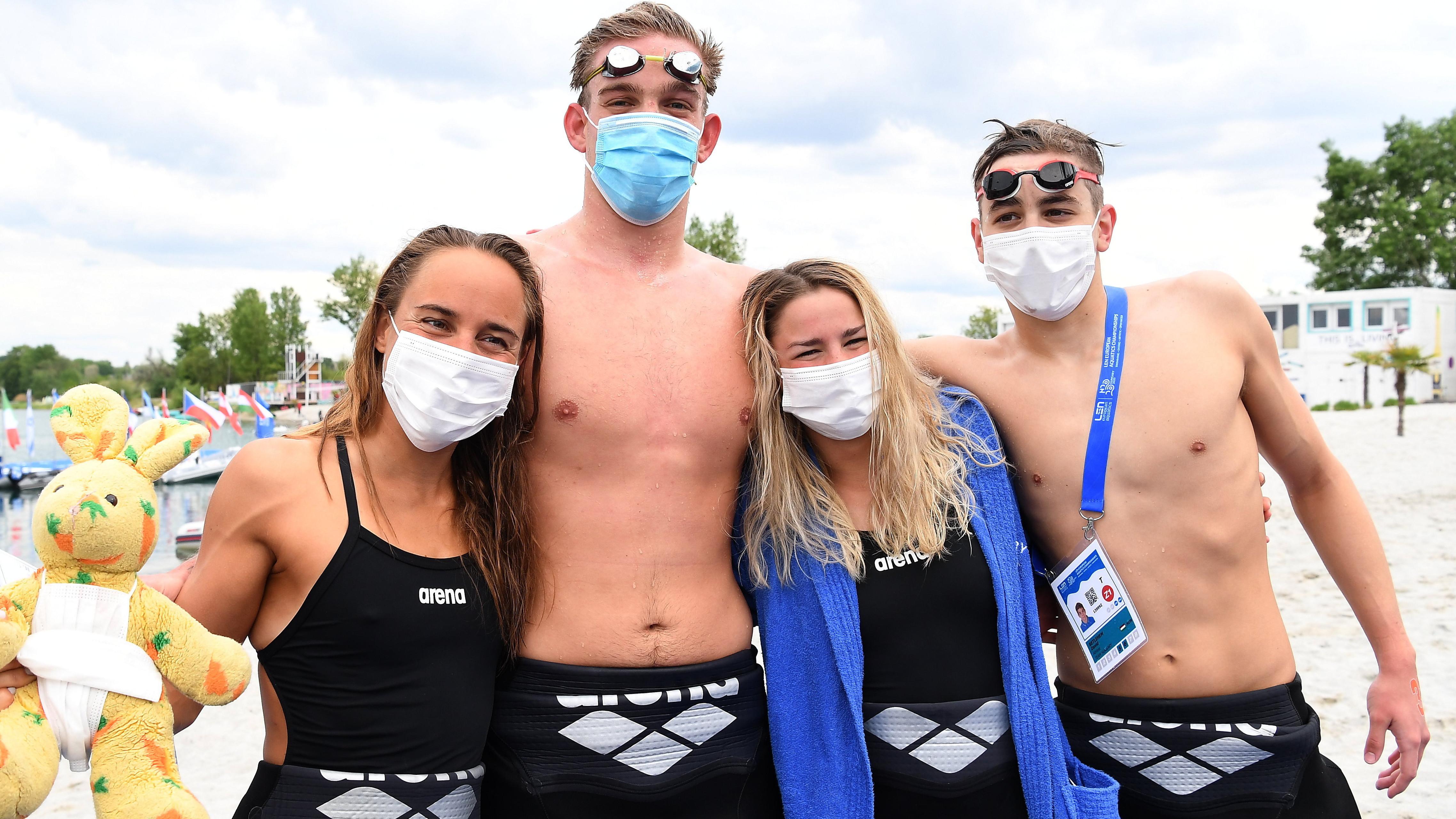 Nyíltvízi úszás: bronzérmes a magyar váltó