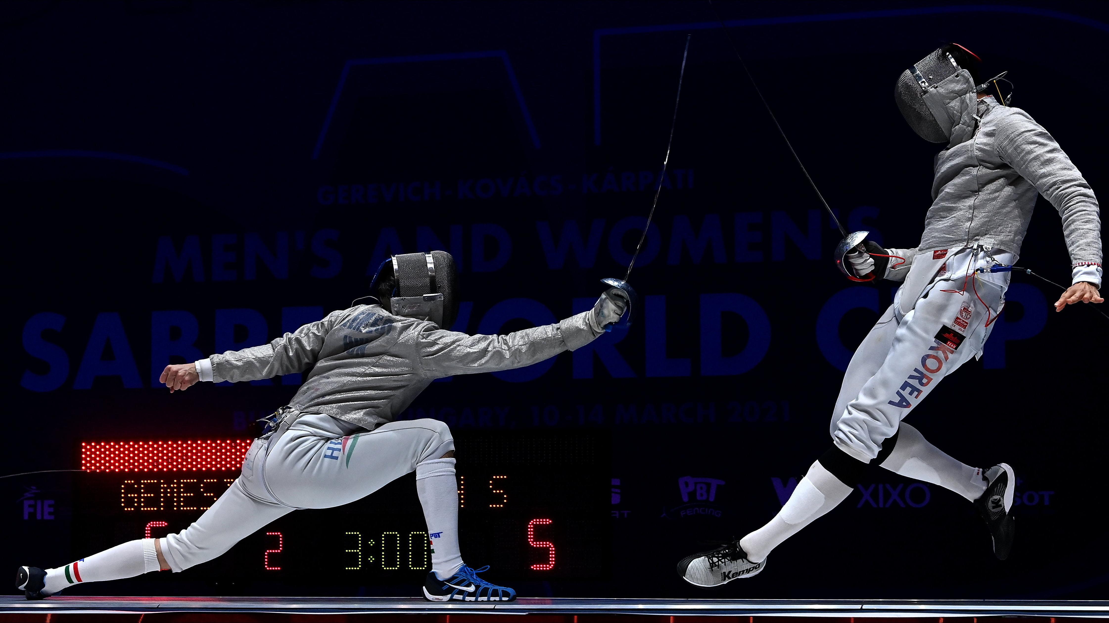 Bronzérem a férfi kardozók versenyében Budapesten